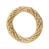 Венок декоративный плетёный из ивовых прутьев очищенных, d=15 см, 2401515, EFCO
