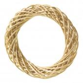 Венок декоративный плетёный из ивовых прутьев очищенных, d=25 см, 2401525, EFCO