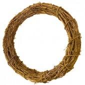 Венок декоративный плетёный из натуральной лозы, d=30 см, 2405430, EFCO