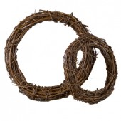 Венки декоративные плетёные из натуральной лозы, 2 шт., d=25 и 35 см см, 2407800, EFCO