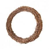 Венок декоративный плетёный из натуральной лозы, d=20 см, 2408220, EFCO