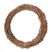 Венок декоративный плетёный из натуральной лозы, d=30 см, 2408230, EFCO
