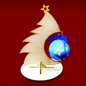 "Подвес для новогоднего шарика ""Ёлочка 1"", 210х152х145 мм, берёзовая фанера, арт. 151923"