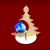 "Подвес для новогоднего шарика ""Ёлочка 3"", 207х198х145 мм, берёзовая фанера, арт. 151924"