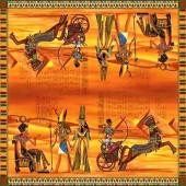 """Салфетка для декупажа """"Древний Египет"""" бумажная, 33х33 см, на фото целая салфетка, SDOG005901"""