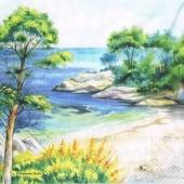 """Салфетка для декупажа """"Средиземное море"""" бумажная, 33х33 см, на фото 1/4 салфетки, 13310320"""