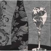"Салфетка для декупажа ""Цветочное вино"" бумажная, 33х33 см, на фото 1/4 салфетки, 344842"