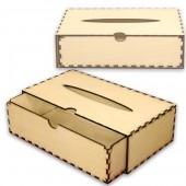 Шкатулка для салфеток деревянная с выдвижным ящичком - заготовка для декора, 22x12x6,6 см, арт. 12507