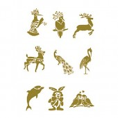 """Переводные изображения универсальные золотые CD-315 """"Животные и птицы"""", 17х25 см, Cadence"""