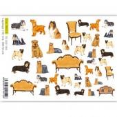 Бумага для декупажа SOFT PAPER TO-DO 166, 50х70 см, Декуоративные собачки