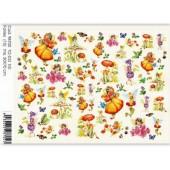 Бумага для декупажа SOFT PAPER TO-DO 101, 50х70 см, Cod.98704, Феи и бабочки