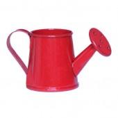 Лейка миниатюрная декоративная металлическая красная, 4х8 см, 77634R, Woodbox