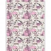 "Рисовая бумага для декупажа Craft Premier CD05401 ""Розовый чай"", 28,2х38,4 см"