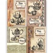 """Рисовая бумага для декупажа Craft Premier CP00195 """"Чайный сервиз"""", 28,2х38,4 см"""