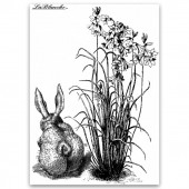 "Штамп полимерный La Blanche ""Bunny with flowers"", 9x6,5 см., арт. LB1163"