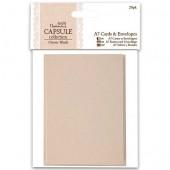 Заготовки для открыток с конвертами PMA151702 перламутровые серо-бежевые, 7,4х10,5 см, 20 шт., DOCRAFTS