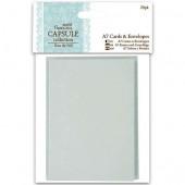 Заготовки для открыток с конвертами PMA151704, 4 цвета, 7,4х10,5 см, 20 шт., DOCRAFTS