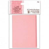 Заготовки для открыток с конвертами PMA151705 розово-бежевые, 7,4х10,5 см, 20 шт., DOCRAFTS