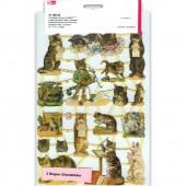 Высеченные элементы EFCO с рельефом для скрапбукинга КОШАЧИЙ ОРКЕСТР, 24х17 см, арт. 1516052