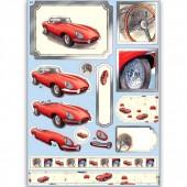"""Высеченные элементы для создания объёмного 3D изображения ANT169442 """"Автомобиль"""", А4, DOCRAFTS"""