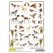 Бумага для декупажа SOFT PAPER TO-DO 160, 50х70 см, 45-47 г/м2, Охотничьи собаки и дичь