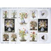 Бумага для декупажа SOFT PAPER TO-DO 039, 50х70 см, 45-47 г/м2, Цветы в вазах