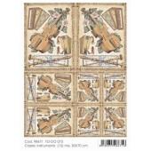 Бумага для декупажа SOFT PAPER TO-DO 073, 50х70 см, Музыкальные инструменты