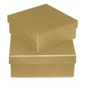 Коробка квадратная картонная заготовка, 15,5х15,5х6 см, KC28/2SA-1, Stamperia