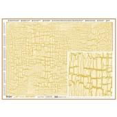 "Декупажная бумага ""металлик"" TO-DO SOFT PRECIOUSE, 50х70 см, SM287, Кракле крупное + золото"