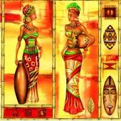 "Салфетка для декупажа ""Африка"" бумажная, 33х33 см, на фото 1/4 салфетки, SLOG008501"