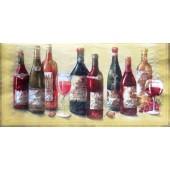 Салфетка для декупажа 0093 бумажная, трёхслойная, размер 33х33 см, на фото 1/2 салфетки, Виноградные вина