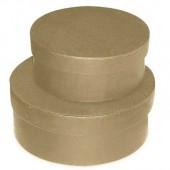 Коробка круглая, 2 шт., d = 20,2, h = 8 см и d = 17,8, h = 7 см, картон, KC29/2G, Stamperia
