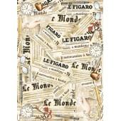 Декупажная карта Stamperia, 50х70 см, 70 г/м2, DFG312, Газетные листы