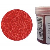 Микробисер прозрачный EFCO 9112114 стеклянный, цвет оранжевый, 0,5 мм, 50 гр.