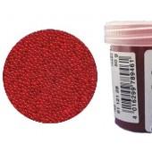 Микробисер прозрачный EFCO 9112128 стеклянный, цвет красный, 0,5 мм, 50 гр.