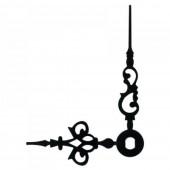 Стрелки 038 black для часового механизма W2100 - черные, металл, длина - 46/35 мм