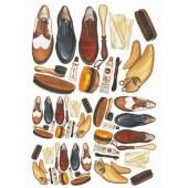 Бумага для декупажа SOFT PAPER TO-DO 138, 50х70 см, 45-47 г/м2, Мужская обувь