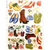 Бумага для декупажа SOFT PAPER TO-DO 139, 50х70 см, Женская обувь и перчатки