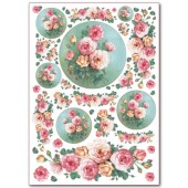 Войлочное полотно с рисунком, 50х70 см, 1 мм, FLSG/ST01 Розы, Stamperia