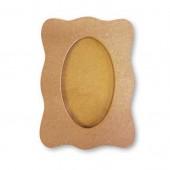 Рамка KF107P для фото фигурная со стеклом, 8,5 x 12 cм, МДФ, Stamperia