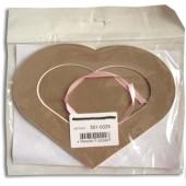 Декоративное паспарту, сердце тёмно-бежевовое, 19,5х14,5 см, арт. 501-0029