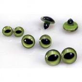 Глазки для игрушек на ножке пришивные кошачьи зелёные, 10 мм, 4 шт., пластик, 1039010, EFCO