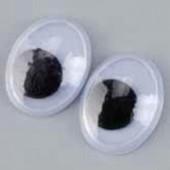 Глазки для игрушек подвижные овальные, 12 мм, 10 шт., пластик, 1039912, EFCO