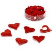 """Декоративные элементы самоклеящиеся 8021101 """"Сердце красное"""", 2 см, 1 шт., ткань, KNORR PRANDELL"""