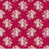 "Ткань Тильда ""Бабушкины розы, красный"", 50х70 см, 100% хлопок, арт. 0480247, Knorr prandell"