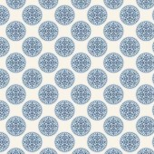 "Ткань Тильда ""Инки, синий"", 50х70 см, 100% хлопок, арт. 0480380, Knorr prandell"