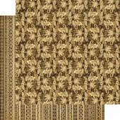 """Бумага для скрапбукинга двухсторонняя Graphic45, коллекция Tropical Travelogue """"Tiki Voyager"""", 30х30 см, 170 г/м2, арт. 4500410"""