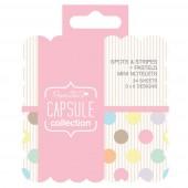 Мини-блокнот для заметок Spots & Stripes Pastels, 24 листа, 10,5х8,5 см, арт. PMA157187, DOCRAFTS