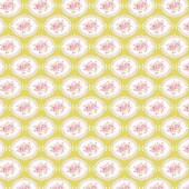 """Ткань Тильда """"Овальные розы зелёный"""", 50х70 см, 100% хлопок, арт. 0304932, Tilda"""