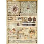 Декупажная карта Stamperia, 50х70 см, 70 г/м2, DFG394, Эпистолярный жанр